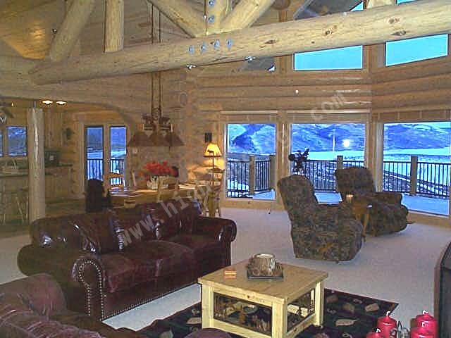 Highland custom log home builders custom log home for Log home interior designs