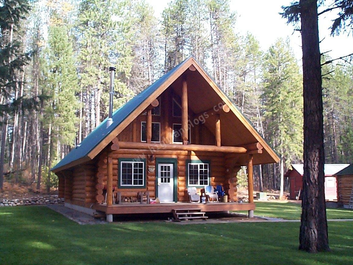 Highland custom log home builders log home exteriors for Log home pictures exterior
