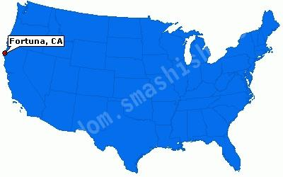 Where is Fortuna on the USA map?